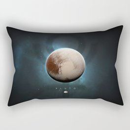A Portrait of the Solar System: Pluto Rectangular Pillow