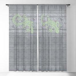 Gecko on Tapa Sheer Curtain