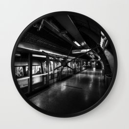 Monochrome Underground Wall Clock
