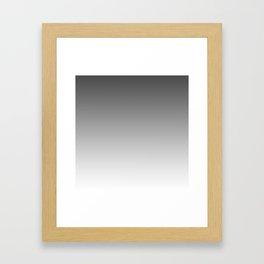 Gray Light Ombre Framed Art Print