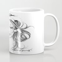 narwhal Mugs featuring Narwhal by Mortimer Sparrow