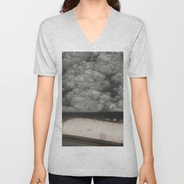 Metal and clouds Unisex V-Neck