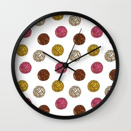 Pan Dulce (white bg) Wall Clock