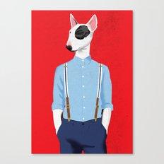Skinhead Bull Terrier Canvas Print