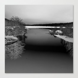 Then There is Cold... in Black and White Canvas Print