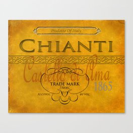 Vintage Wine Label Print (Chianti)  Canvas Print