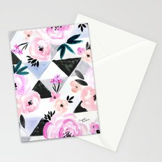 Sunset Rose Triangles Stationery Cards