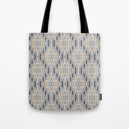 Tribal Diamond Pattern in Gray and Tan Tote Bag