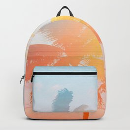 Tropicana seas - sundown Backpack
