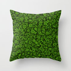 Green micropets Throw Pillow