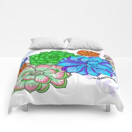 Saturated Succulents Comforters