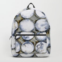 WATERCOLOUR DISCS: White Howlite Backpack