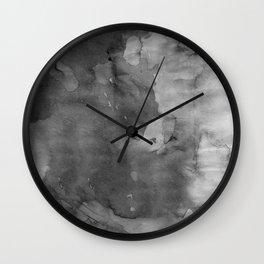 Black watercolor Wall Clock