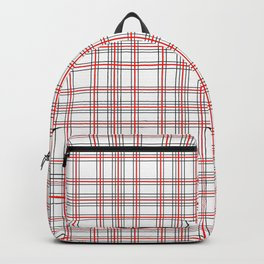 Line Ligné 4 black and red prince  of wales check Backpack