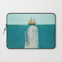 elephant Laptop Sleeves featuring The Whale  by Terry Fan