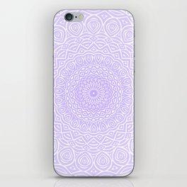 Purple Violet Mandala Design Extra Detailed Geometric Ethnic Tribal Pattern iPhone Skin