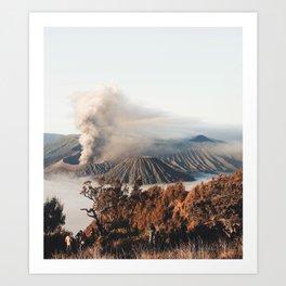 Volcano landscape Art Print
