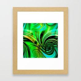 Curls Deluxe Green Framed Art Print