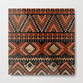 Aztec Ethnic Pattern Art N7 Metal Print