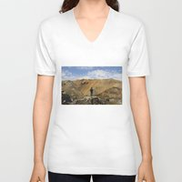 iceland V-neck T-shirts featuring ICELAND IV by Gerard Puigmal