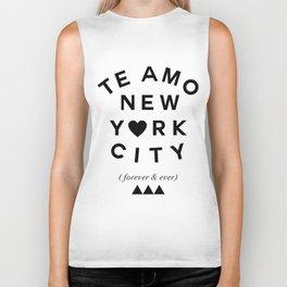(EXTRA BOLD) TE AMO NEW YORK CITY (forever & ever) Biker Tank