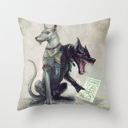 Castor and Polux Throw Pillow