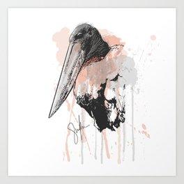 Jabiru Stork Art Print