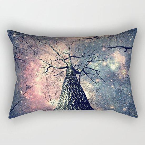 Wintry Trees Galaxy Skies Rectangular Pillow