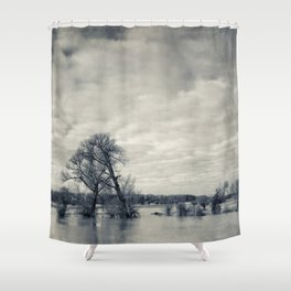lean on me - flooded meadows Shower Curtain