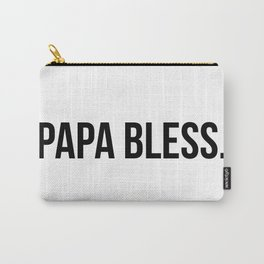 Papa Bless - version 1 - black Carry-All Pouch