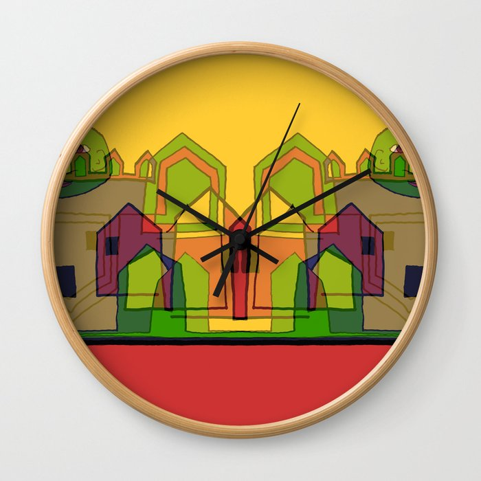 Two Suns Above the Village Wall Clock