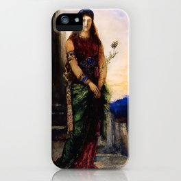 """Gustave Moreau """"Helen on the Walls of Troy"""" iPhone Case"""