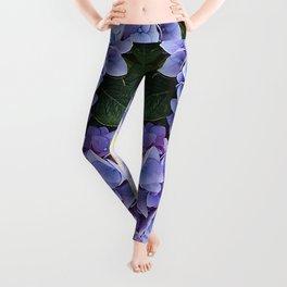 Purple hydrangea 1 Leggings