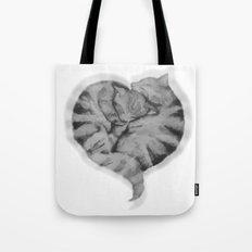 Cuddling Cats Tote Bag