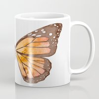 nirvana Mugs featuring Caterpillar's nirvana by Benjamin Castle