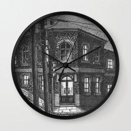 Downhill street Wall Clock