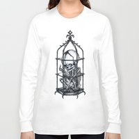 cage Long Sleeve T-shirts featuring Fetus Cage by Elias Aquino