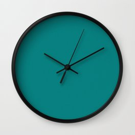Dark Cyan Light Pixel Dust Wall Clock