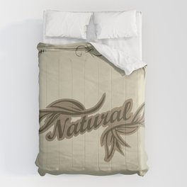 sticker badge with the inscription sheet and Natural. in natural colors Comforters