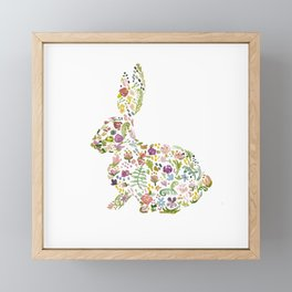 Springtime Flower Bunny Framed Mini Art Print