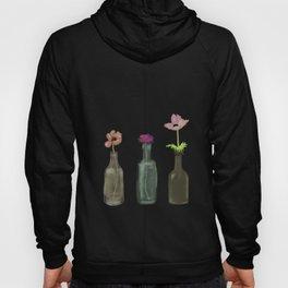 Flowers in Glass Bottles . Pastel Colors Hoody