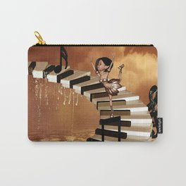 Cute little girl dancing on a piano Carry-All Pouch
