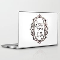 treat yo self Laptop & iPad Skins featuring Treat Yo Self by Narts and Crafts
