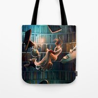 Tote Bags featuring Need more than one life by Cyril ROLANDO