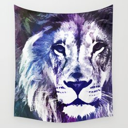 Purple Lion Wall Tapestry