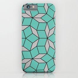 Penrose tiling sphere, grayish opal and medium gray iPhone Case