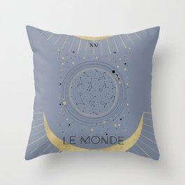 The World or Le Monde Tarot Throw Pillow