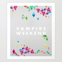 vampire weekend Art Prints featuring Vampire Weekend  2 by alboradas
