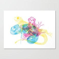 CMY Reptiles Canvas Print