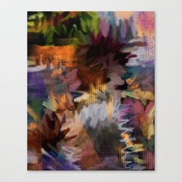 FEEL THE BUZZ: Blackish Canvas Print